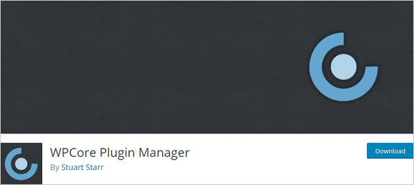 WPCore Plugin Manager