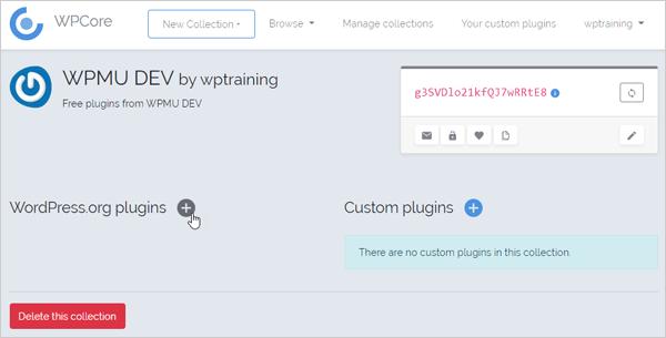 WPCore add WordPress plugins screen.