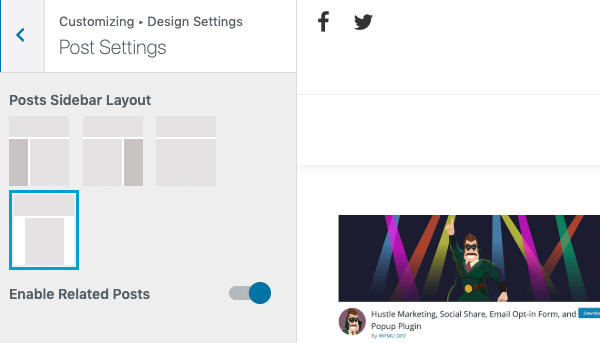 Change up the post layout settings if you want a different look