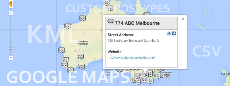 Google Maps, KML overlays and custom post types all come together for massively engaging maps