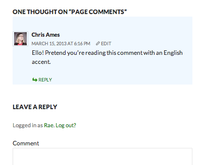 Highlighted comment