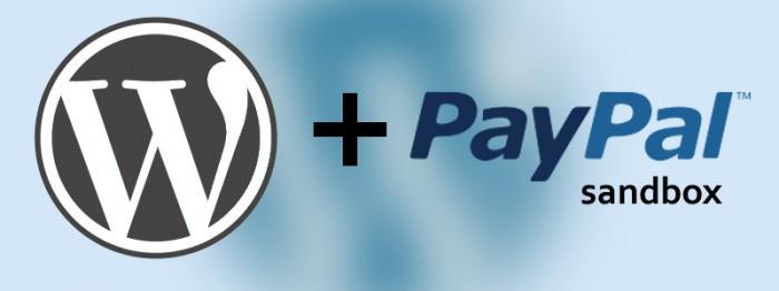 Image consisting of the WordPress and PayPal logos