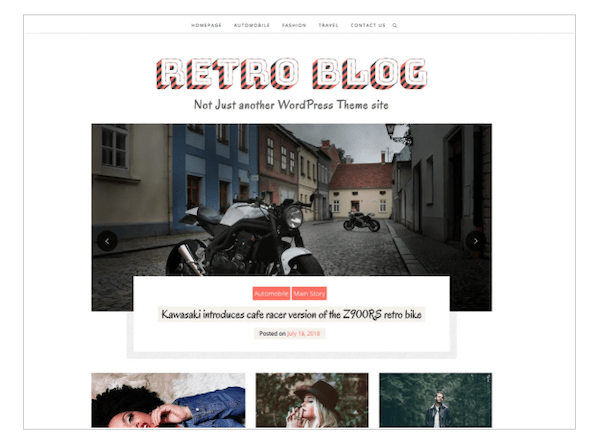 A look at the retro blog theme