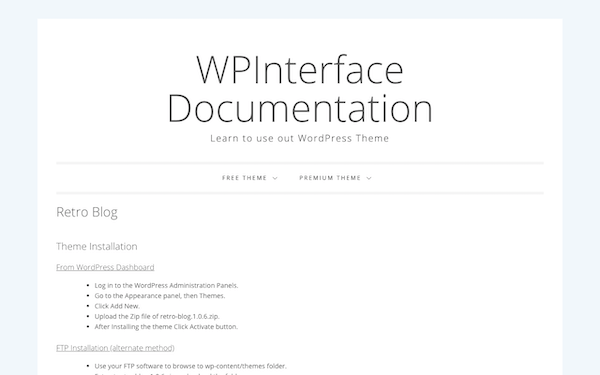 A look at the help docs this theme comes with