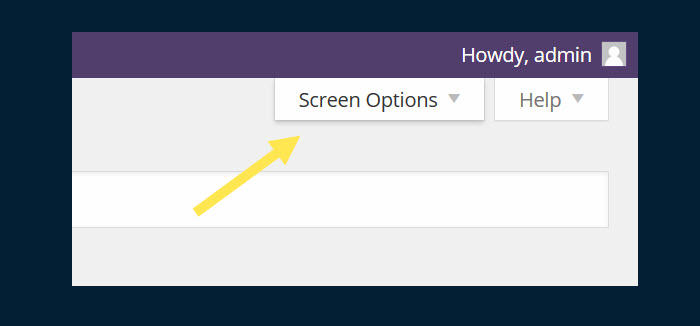 Sitting up in the corner of the page as it does, the Screen Options tab often goes unnoticed.
