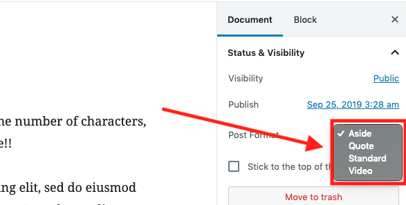 Adjust your post type to suit your blog style