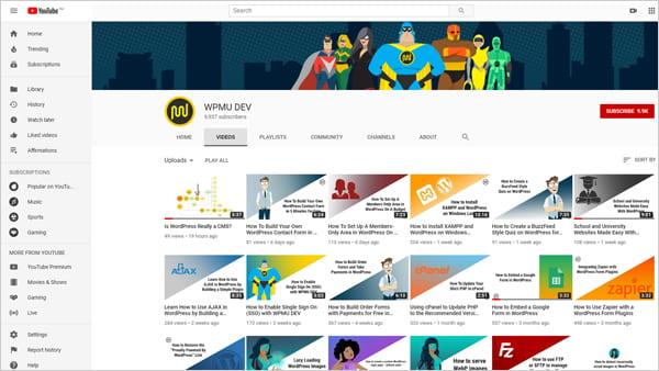 WPMU DEV YouTube channel