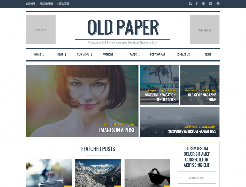 Beautiful WordPress Themes of 2014 | CSTLdesign
