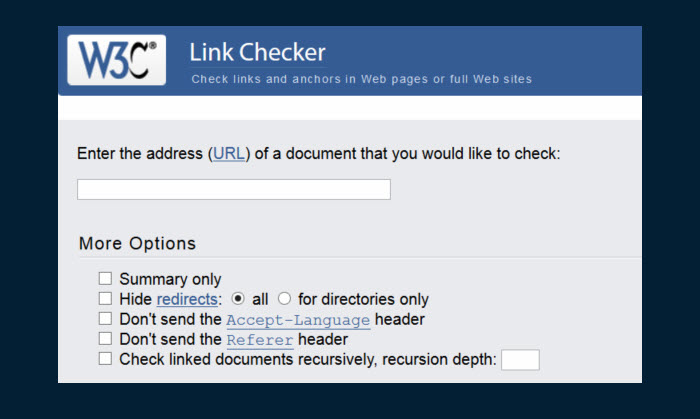 w3linkchecker