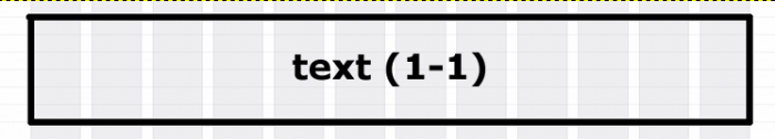 Screen element spanning 12 columns on a grid