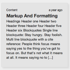 Minor tweaks include adding categories and excerpts to the summaries