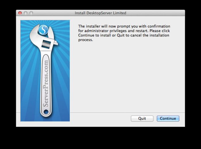 DesktopServer setup