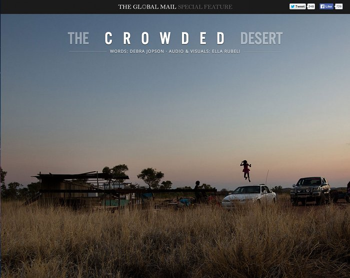 Screenshot of the title page of Crowded Desert