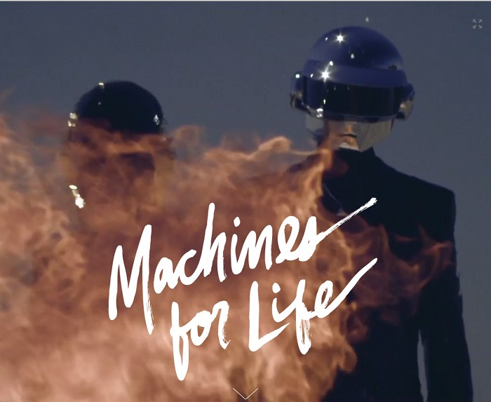 Screenshot of the title page of Pitchfork's feature on Daft Punk