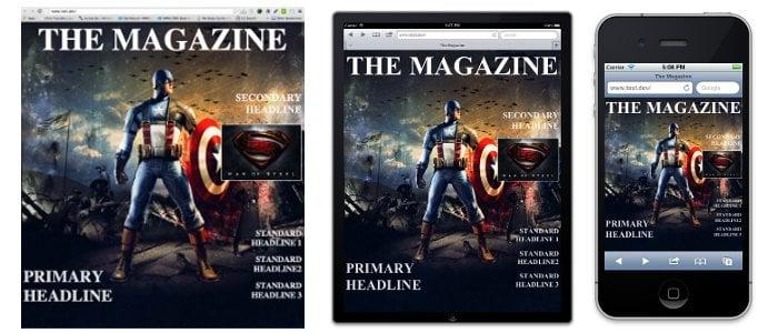 Magazine covers are a familiar visual cue