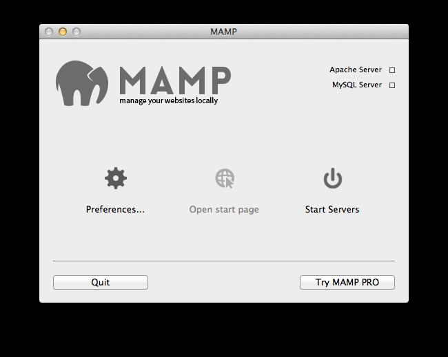 MAMP setup