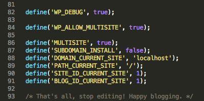 Multsite wp-config