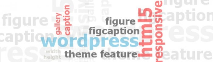 Tag cloud of image related markup