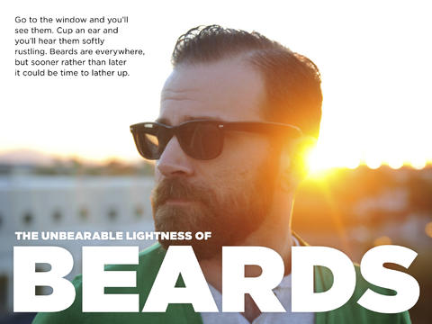 Screenshot of the front page of a story from The Brief about beards
