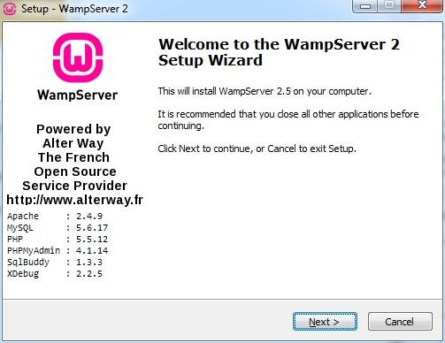 WampServer installation