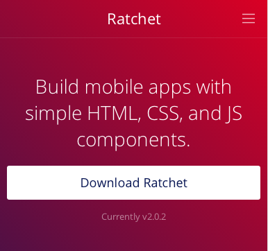 Screenshot of the Ratchet home page