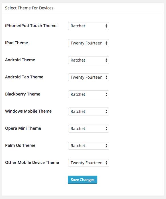 Screenshot of the plugin's settings page