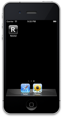 iPhone screen showing custom icon on home screen