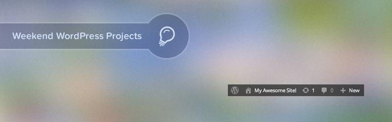 Admin toolbar