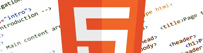 HTML5 logo surrounded by HTML