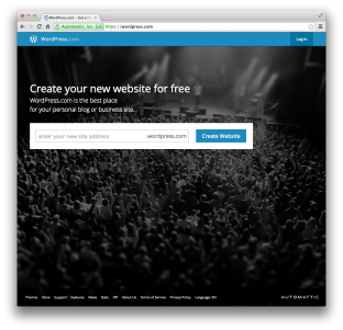 The WordPress.com website.