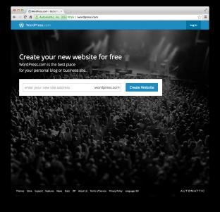 The WordPress.com website.