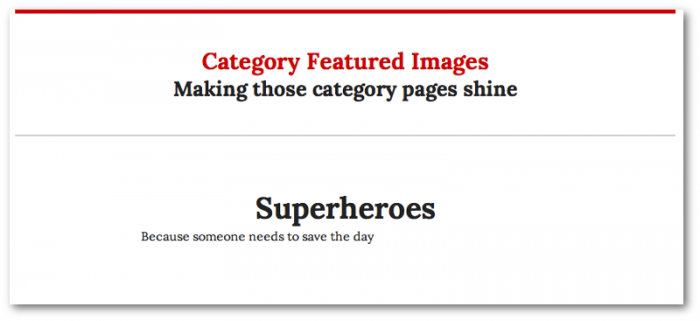 Screengrab of the Bosco category page without a category image