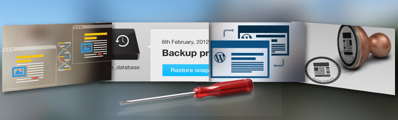 Montage of promo images for Snapshot, Multisite Content Copier, Cloner and New Blog Templates