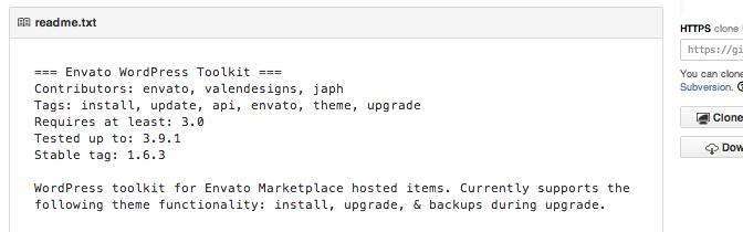 Envato WordPress Toolkit GitHub