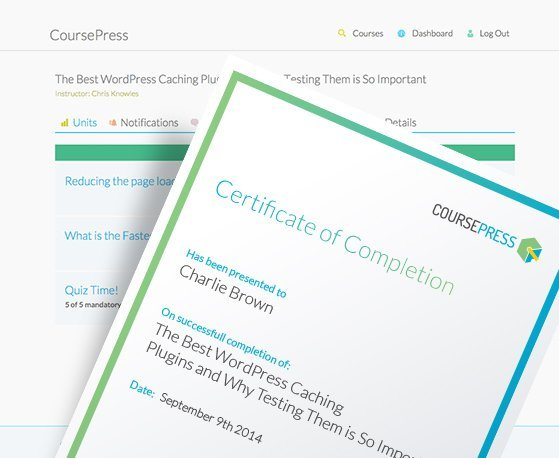Grading, marking and assessment tools mean you can easily offer certification