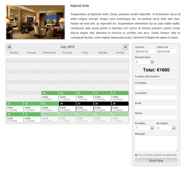 Booking System PRO