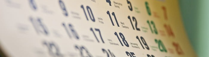 Calendars and events