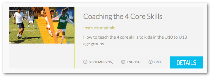 Screengrab of a course listing in the front-end of a CoursePress enabled website