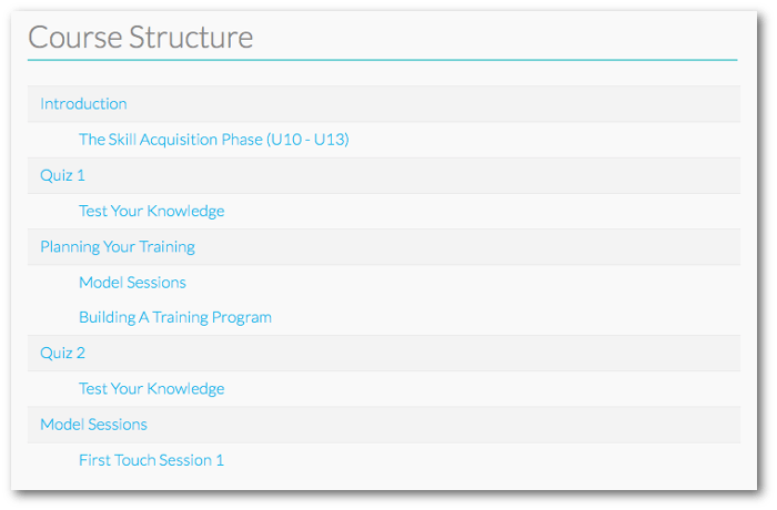 Screengrab of the Overview section of the Course Details page