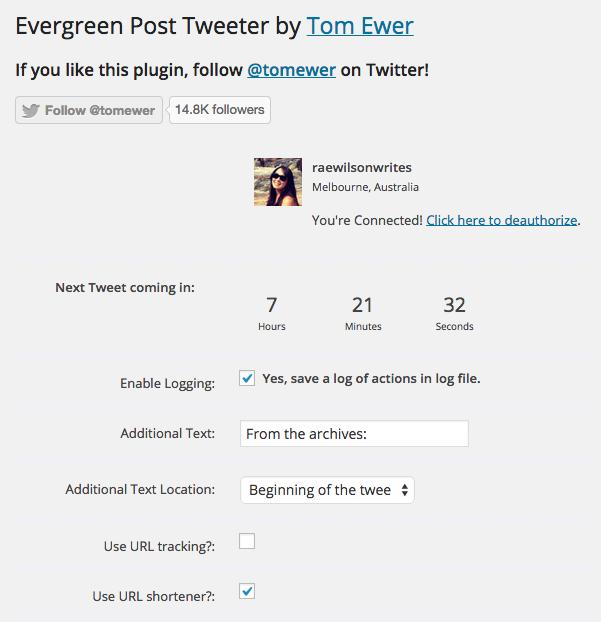 Evergreen Post Tweeter