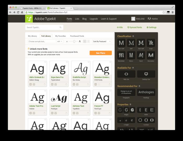 Typekit Adobe