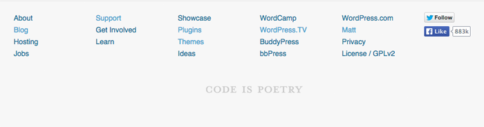 WordPress.org Footer