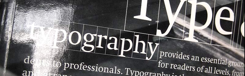 Stylistic view of typography.