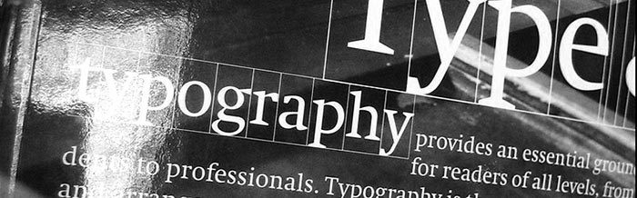 Stylized view of typography concept.