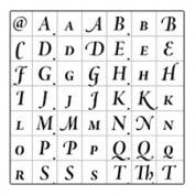 Just a few of the glyphs available in an OpenType font.
