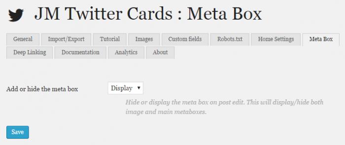 JM Twitter Cards Settings