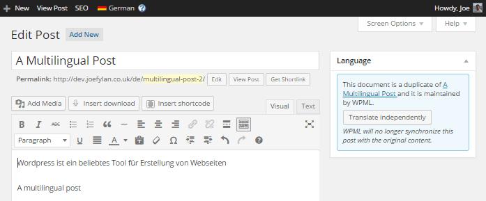WPML German Version