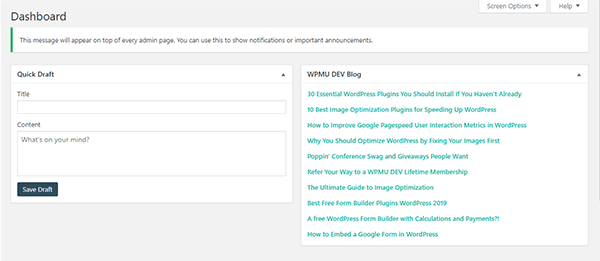 Screenshot of the new feed on the dashboard.