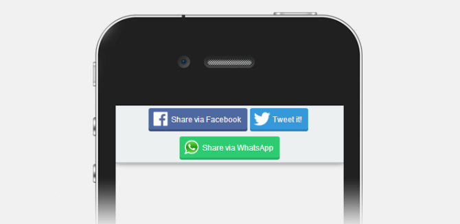 WhatsApp button display