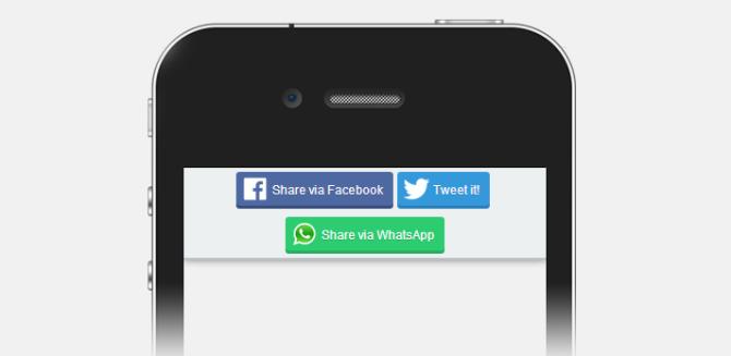 WhatsApp button display